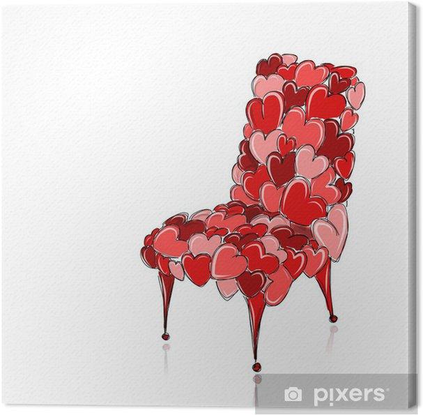 Leinwandbild Liebes Stuhl Rot Für Ihr Design Pixers Wir Leben