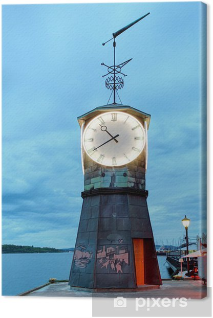 Leinwandbild Lighthouse in Oslo embakment - Europäische Städte