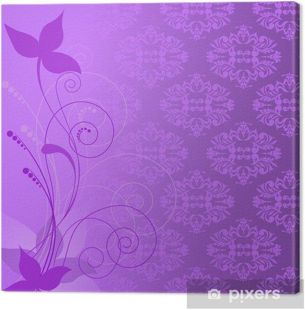 Leinwandbild Lila Pflanze Zusammensetzung - Hintergründe