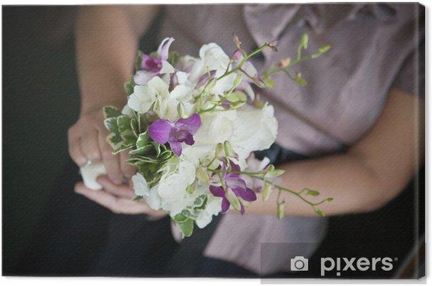Leinwandbild Lila Weiss Hochzeit Blumen Pixers Wir Leben Um Zu