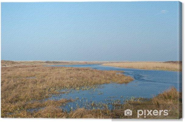 Leinwandbild Loodsmansduin an niederländischen Texel - Wasser