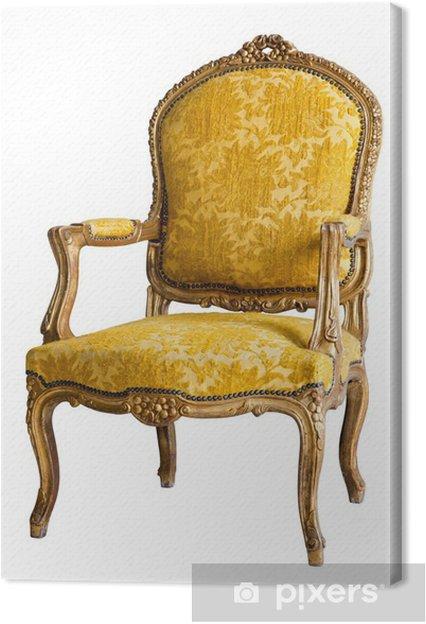 Leinwandbild Luxus Sessel Gelb Pixers Wir Leben Um Zu Verändern
