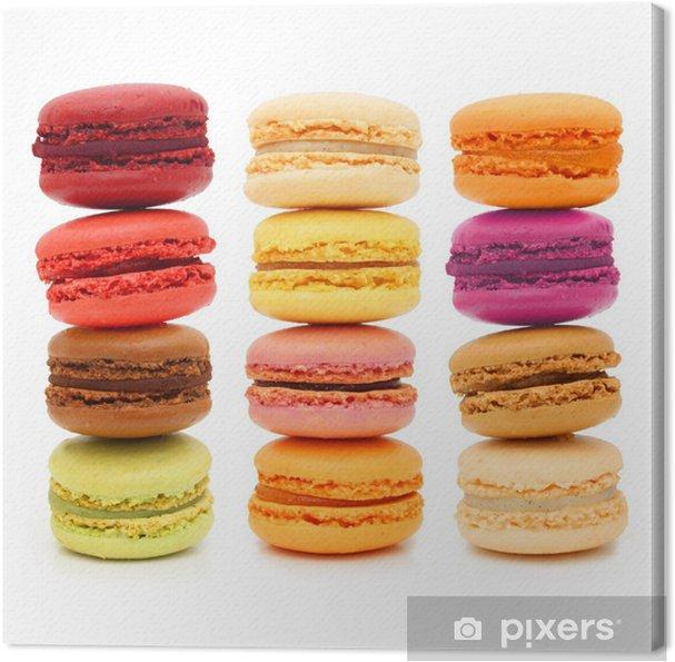 Leinwandbild Macarons - Französisch Gebäck - Süßwaren und Desserts