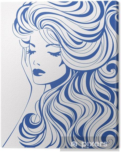 Leinwandbild Mädchen abstrakt - Stile