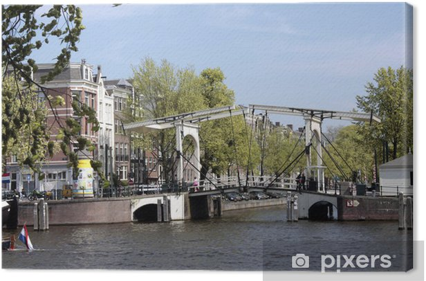 Leinwandbild Magere Brug 1, Amsterdam - Europäische Städte