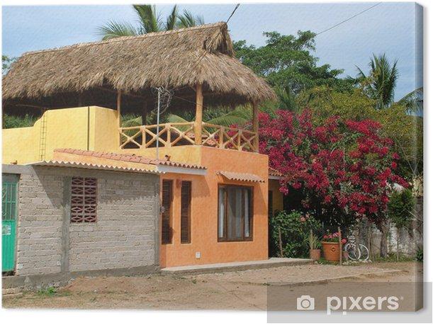 Leinwandbild Maison orange San Pancho - Haus und Garten