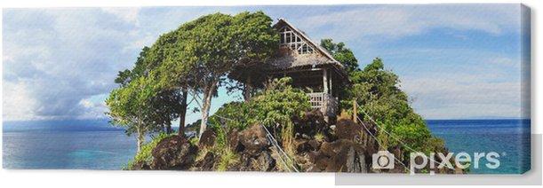 Leinwandbild Malerische Landschaft. Apo Island, Philippinen - Inseln