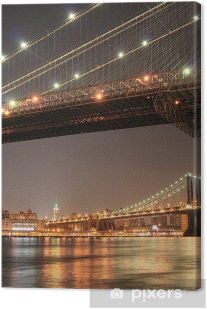 Leinwandbild Manhattan Skyline bei Nacht - Amerikanische Städte
