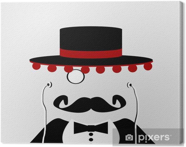 Leinwandbild Mann Mit Hut Und Spanisch Ohrhorer Pixers Wir