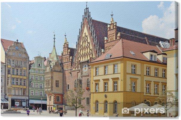 Leinwandbild Marktplatz, Wroclaw, Polen - Europa
