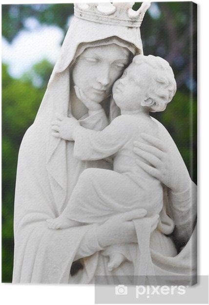 Leinwandbild Mary trägt das Baby Jesus-Statue - Religion