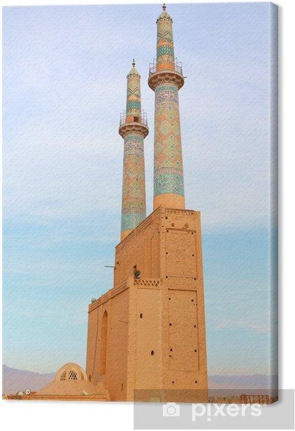 Leinwandbild Masjed-i Jame 'Moschee in der antiken Stadt Yazd, Iran - Naher Osten