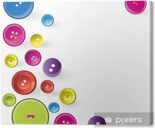 Leinwandbild Mehrfarbige Sewing Items. - Hintergründe