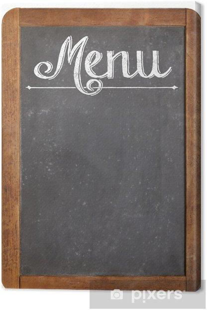 Leinwandbild Menü auf Vintage-Tafel - Zeichen und Symbole