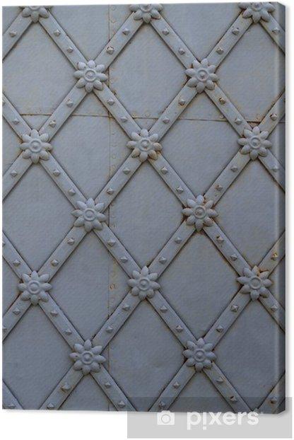 Leinwandbild Metal texture - Europa