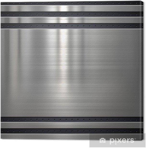 Leinwandbild Metall-Hintergrund oder Textur mit Löchern - Rohstoffe