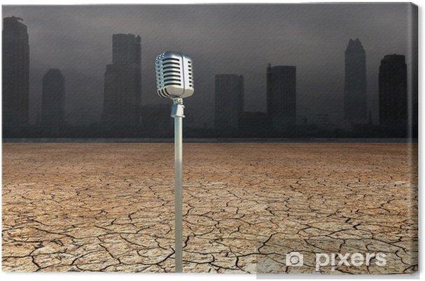 Leinwandbild Mikrofon in Dystopic Welt - Schwerindustrie