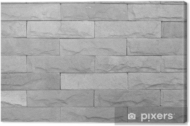 Leinwandbild Moderne Stein Ziegel Textur Hintergrund Wand Pixers