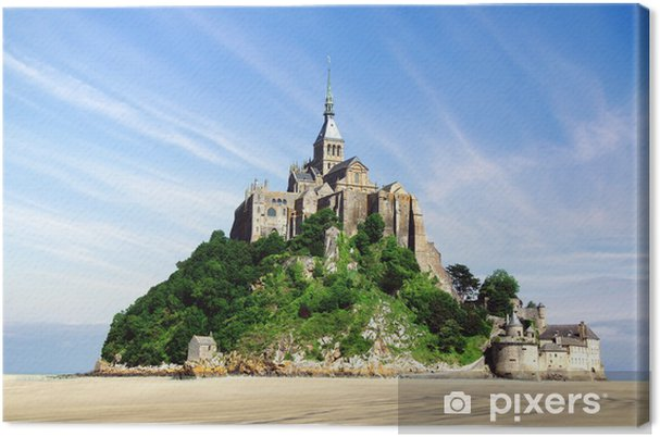 Leinwandbild Mont saintmichel - Denkmäler