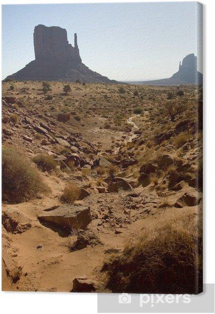 Leinwandbild Monument Valley Felsformationen - Leben
