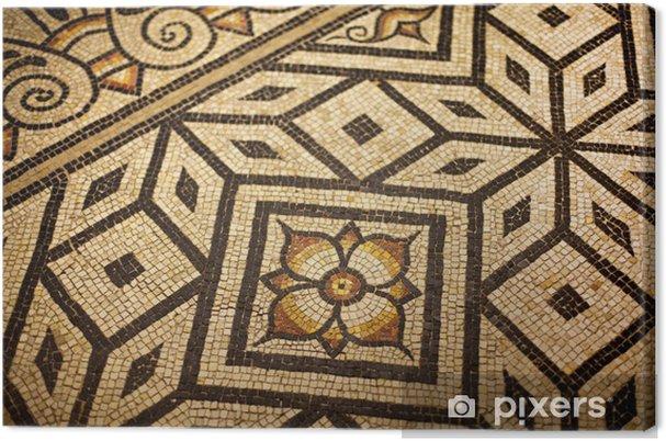 Leinwandbild Mosaik Fliesen Haus Romisch Alt Muster Pixers