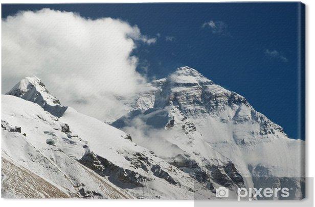 Leinwandbild Mount Everest Nordwand Blick aus Tibet - Themen