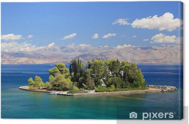 Leinwandbild Mouse Island in der Nähe von Korfu Griechenland - Europa