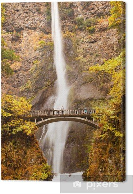 Leinwandbild Multnomah Falls Wasserfall Columbia River Gorge, Oregon - Naturwunder