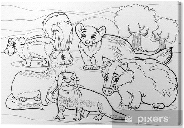 Leinwandbild Mustelids Tiere Cartoon Malvorlagen Pixers Wir