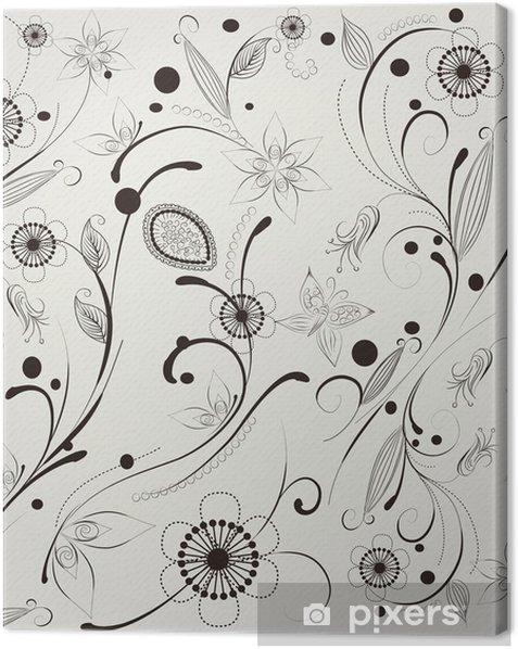 Leinwandbild Muster Blume - Hintergründe