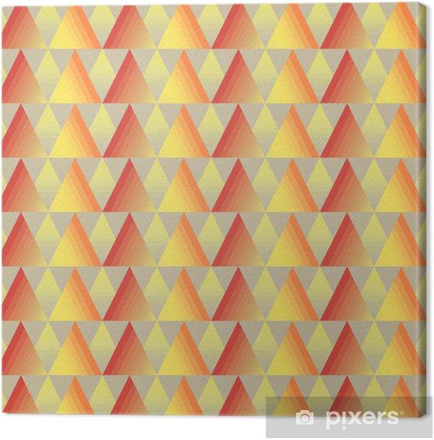 Leinwandbild Nahtlose Dreieck Hintergrund - Kunst und Gestaltung