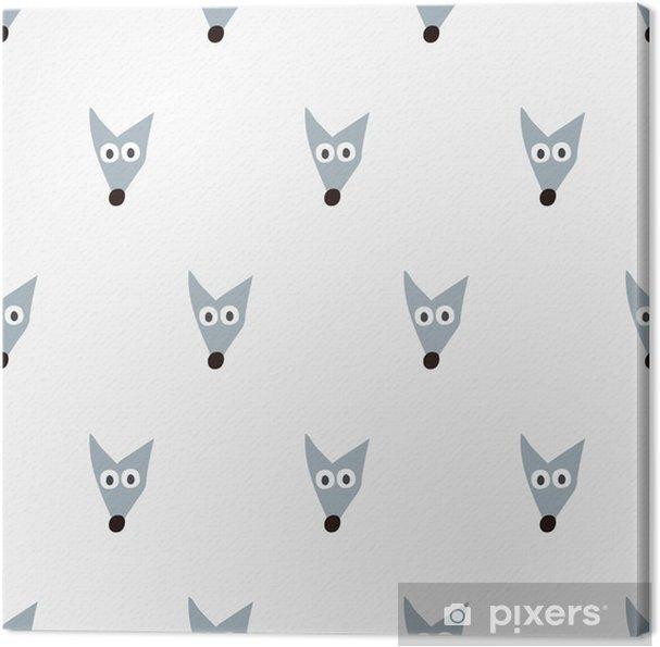 Leinwandbild Nahtlose Muster Fuchs - Grafische Elemente