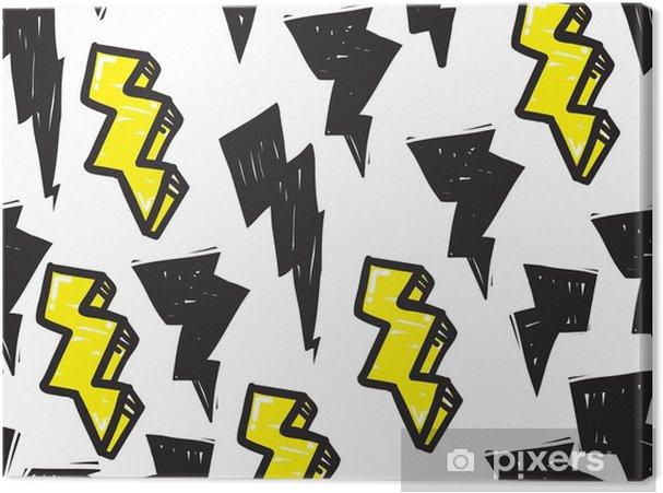 Leinwandbild Nahtlose Muster Graffiti - Grafische Elemente
