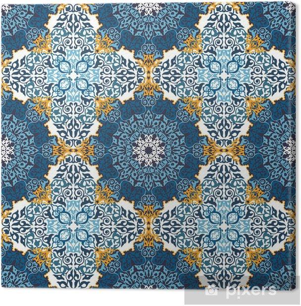 Leinwandbild Nahtlose Muster in Mosaik-Ethno-Stil. - Kunst und Gestaltung