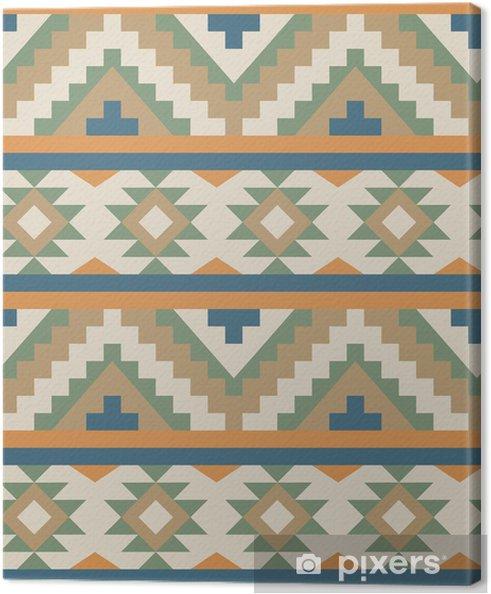 Leinwandbild Nahtlose Muster in navajo Stil - Stile