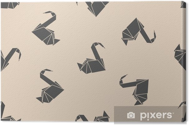 Leinwandbild Nahtlose Muster Japanisches Papier Origami Kraniche Kann Für Die Webseite Hintergründe Oberflächenstrukturen Hintergrund Auf