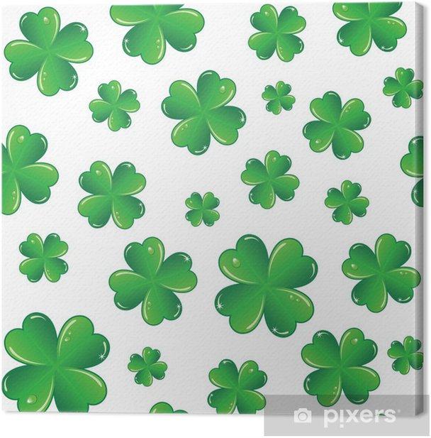 Leinwandbild Nahtlose St. Patricks Tag Hintergrund - Hintergründe