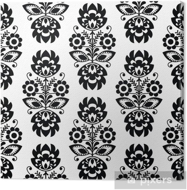 Leinwandbild Nahtlose traditionellen floralen Muster polish - ethnischen Hintergrund - Stile