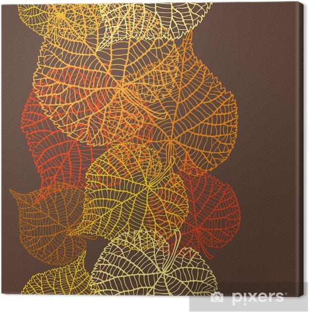 Leinwandbild Nahtlose Vektor-Muster mit stilisierten Blätter im Herbst. - Jahreszeiten