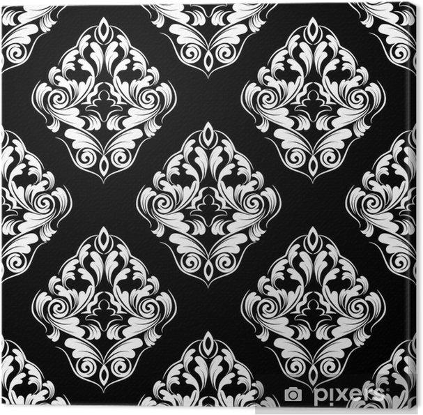 Leinwandbild Nahtlose wallpaper.damask pattern.flower Hintergrund - Hintergründe