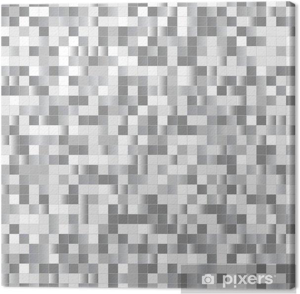 Leinwandbild Nahtloser Hintergrund mit glänzenden Pixel - Hintergründe