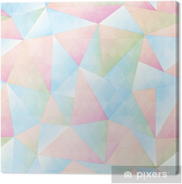 Leinwandbild Nahtloses Muster des Pastellfarbdreiecks - Grafische Elemente