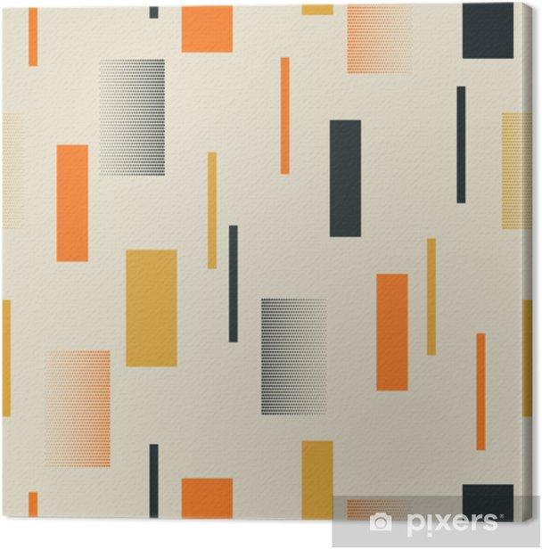 Leinwandbild Nahtloses Retro Muster mit Streifen - Grafische Elemente