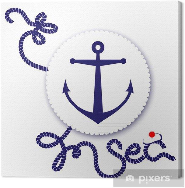 Leinwandbild Nautical Design, Anker - Boote