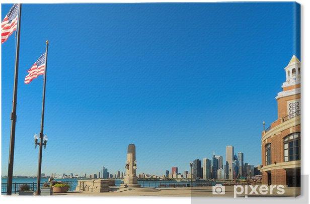Leinwandbild Navy Pier Downtown Chicago - Amerika
