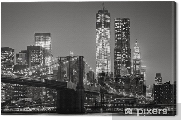 Leinwandbild New York bei Nacht -