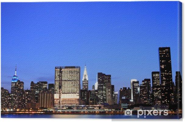 Leinwandbild New York City bei Nacht Lights, Midtown Manhattan - Amerikanische Städte