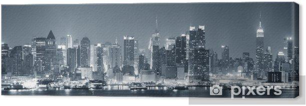 Leinwandbild New York City Manhattan schwarz und weiß - Themen