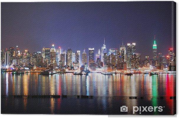 Leinwandbild NEW YORK CITY NIGHT PANORAMA - Themen