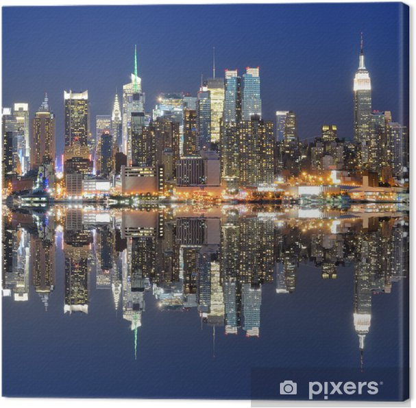 leinwandbild new york city skyline pixers wir leben um zu ver ndern. Black Bedroom Furniture Sets. Home Design Ideas